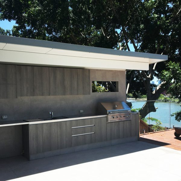 Outdoor Entertainment Kitchen built by Gecko Kitchens Brisbane Kitchen Designers and Builders Brisbane